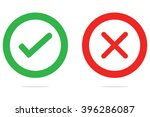 check mark  wrong mark icons | Shutterstock .eps vector #396286087
