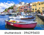 vivid beautiful procida island  ... | Shutterstock . vector #396295603