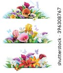 set banners with flowers | Shutterstock .eps vector #396308767