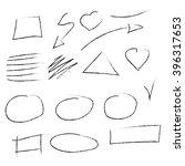 vector set hand drawn elements | Shutterstock .eps vector #396317653