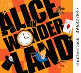 alice in wonderland title with...