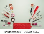 beautiful make up bag with...   Shutterstock . vector #396354667