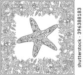 Adult Coloring Page With Coral...