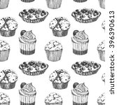 vector pattern cupcakes and... | Shutterstock .eps vector #396390613