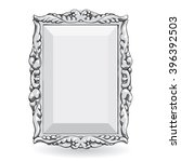 silver vintage frame  with... | Shutterstock . vector #396392503