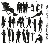 people silhouettes | Shutterstock .eps vector #396430207