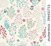 seamless floral pattern. vector ... | Shutterstock .eps vector #396431713