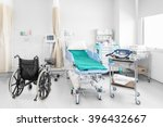 empty wheelchair parked in... | Shutterstock . vector #396432667