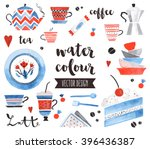 premium quality watercolor... | Shutterstock .eps vector #396436387