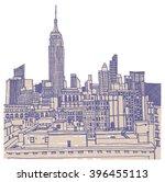scene street illustration. hand ... | Shutterstock .eps vector #396455113