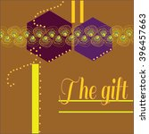 gift card with lace's ornament    Shutterstock .eps vector #396457663