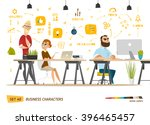 business cartoon characters... | Shutterstock .eps vector #396465457