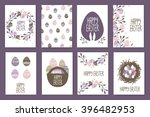 beautiful easter cards   Shutterstock .eps vector #396482953