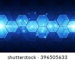 abstract futuristic digital... | Shutterstock .eps vector #396505633