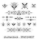 hand drawn boho patterns with... | Shutterstock . vector #396514837