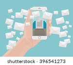 many envelopes messages from... | Shutterstock .eps vector #396541273