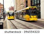 Light Rail Tram In The City...
