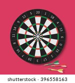 Dart And Dartboard. Vector...