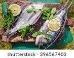 Grilling Fresh Fish With Lemon...