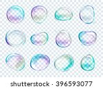 vector rainbow soap water... | Shutterstock .eps vector #396593077