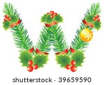 letter with decoration for ... | Shutterstock .eps vector #39659590