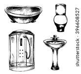 a set of sketches of plumbing   ... | Shutterstock .eps vector #396608527