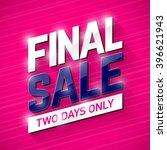 final sale banner. special... | Shutterstock .eps vector #396621943