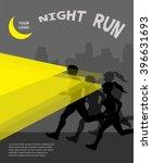 Night Running Marathon  People...
