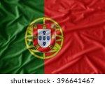 waving flag of portugal. flag... | Shutterstock . vector #396641467