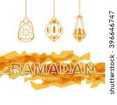 illustration of ramadan kareem...   Shutterstock .eps vector #396646747