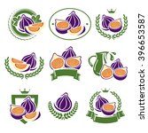 figs labels and elements set.... | Shutterstock .eps vector #396653587