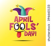 april fool's day  typography ... | Shutterstock .eps vector #396660133