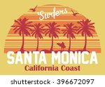 california coast  santa monica...   Shutterstock .eps vector #396672097