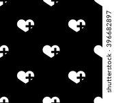 heart cross icon  | Shutterstock .eps vector #396682897