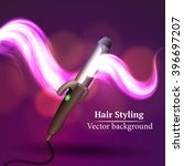 vector background abstract hair ... | Shutterstock .eps vector #396697207
