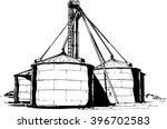 cereal or grain factory. flat... | Shutterstock .eps vector #396702583