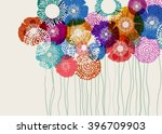 colorful flower background ... | Shutterstock .eps vector #396709903