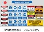 mining mandatory sign  safety... | Shutterstock .eps vector #396718597