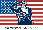illustration of a us military... | Shutterstock .eps vector #39672877