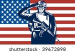 illustration of a us military... | Shutterstock . vector #39672898