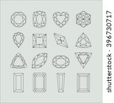 set of gemstones with various... | Shutterstock .eps vector #396730717