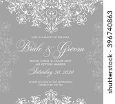 wedding card or invitation with ... | Shutterstock .eps vector #396740863