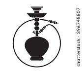 black silhouette shisha label ... | Shutterstock .eps vector #396748807