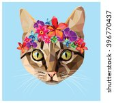 Cat With A Floral Crown Made...