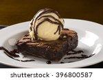 Chocolate Brownie With Vanilla...