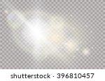 glow light effect. star burst... | Shutterstock .eps vector #396810457