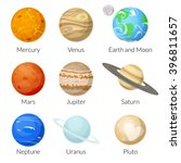 icons of the planet of the... | Shutterstock .eps vector #396811657