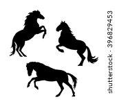 vector horse silhouette... | Shutterstock .eps vector #396829453