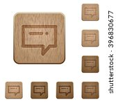 set of carved wooden typing...