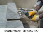 marble repair with angle grinder | Shutterstock . vector #396852727